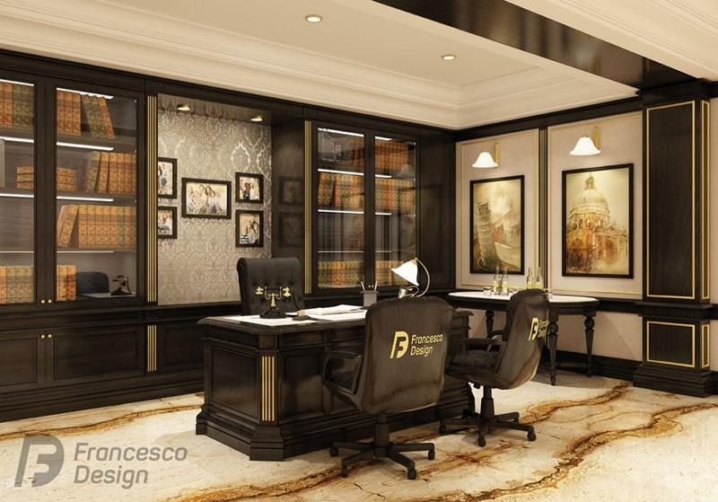 Luksusowy gabinet w klasycznym wydaniu