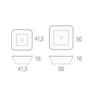 Marmurowa umywalka kwadratowa BOWL n6