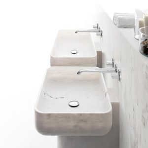 Marmurowa umywalka prostokąt BOWL n11