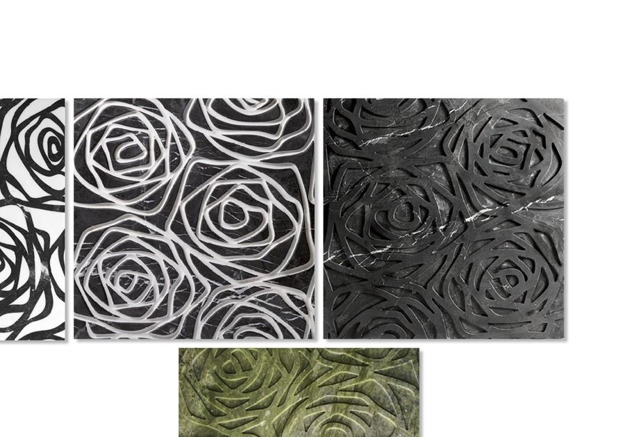 Marmurowe płytki kwiat róży 3D ROSE
