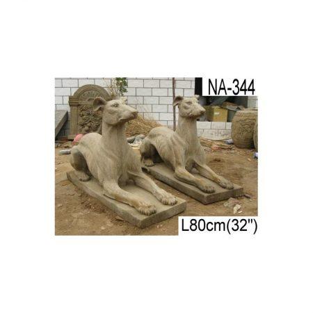Rzeźba z kamienia 2 charty Livingstone Terrasso