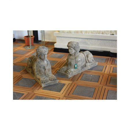 Rzeźba z kamienia 2 Sfinxy Livingstone Terrasso