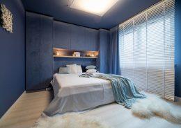 Modna sypialnia - niebieska sypialnia w oryginalnym wydaniu
