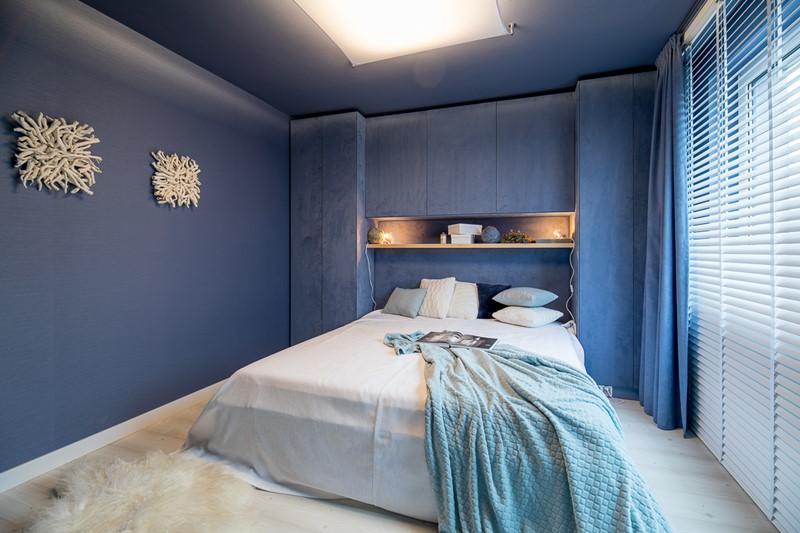 Niebieska sypialnia w oryginalnym wydaniu