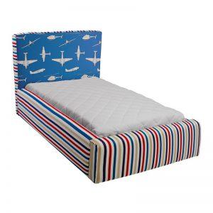 Niebieskie łóżko dziecięce samoloty basic