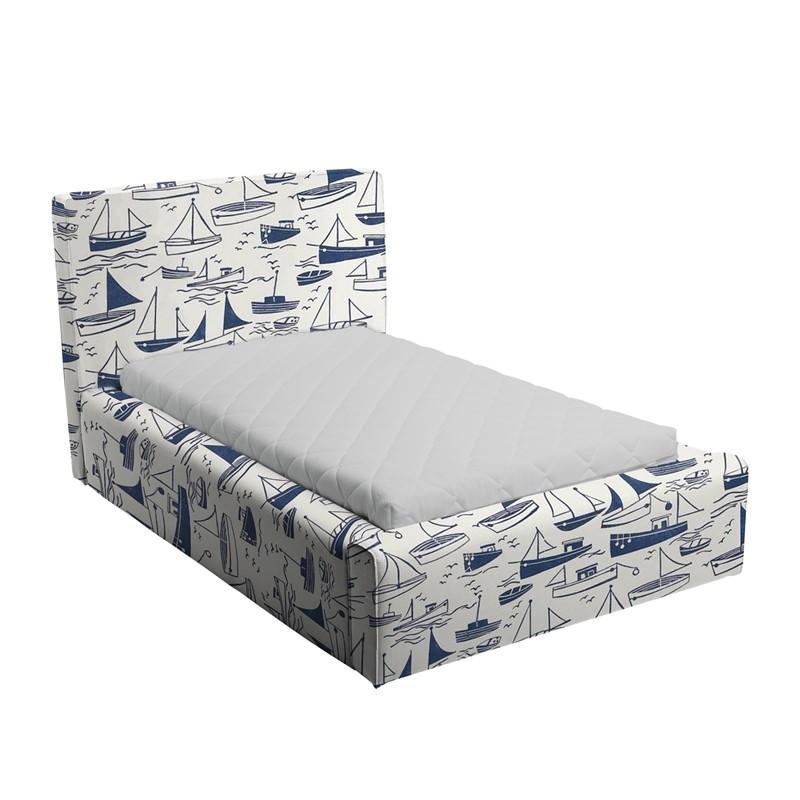 Niebiesko-białe łóżko dziecięce statki Basic