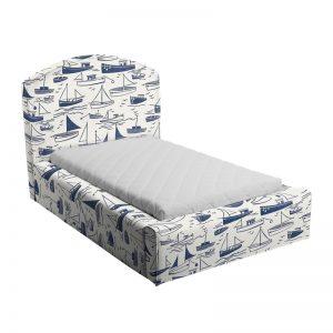 Niebiesko-białe łóżko dziecięce statki caroline