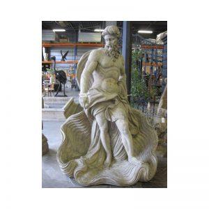 Rzeźba z kamienia Posejdon