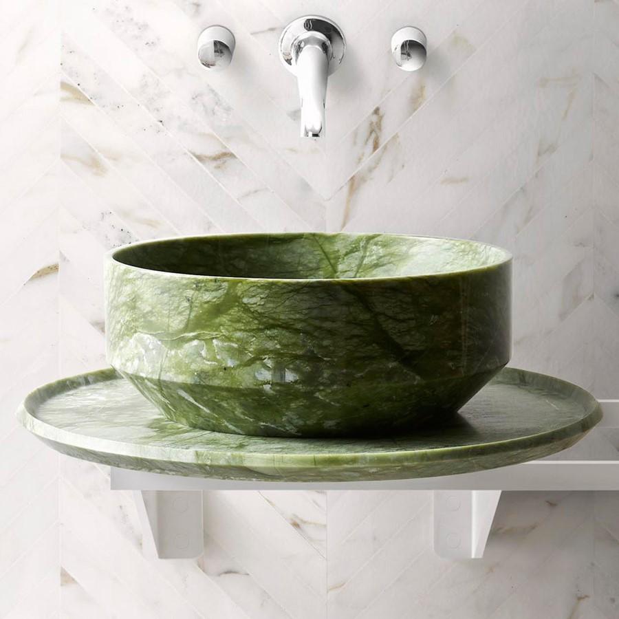 Okrągła umywalka z marmuru BOWL n2