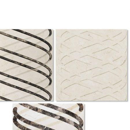 Oryginalne płytki 3D z marmuru TWIRL