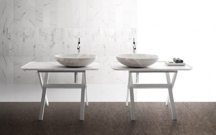 Owalna umywalka z marmuru BOWL n10