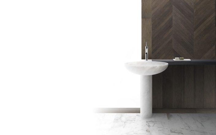 Owalna umywalka z marmuru BOWL n12