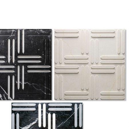 Płytki 3D z marmuru Weave