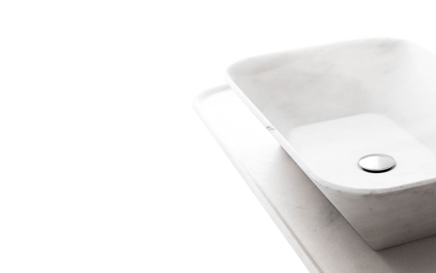 Prostokątna umywalka marmur BOWL n8