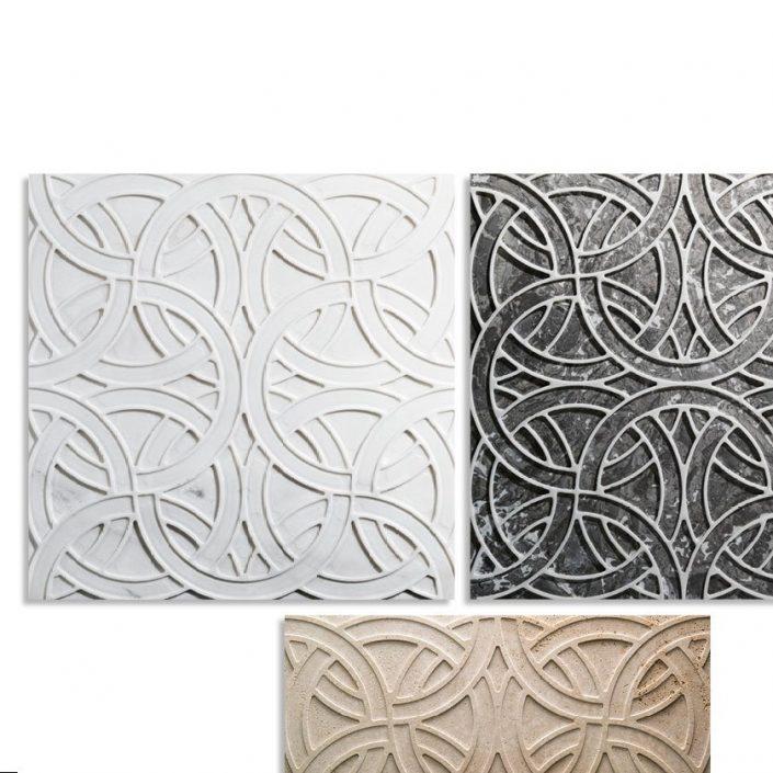 Stylowe płytki 3D z marmuru Rondo