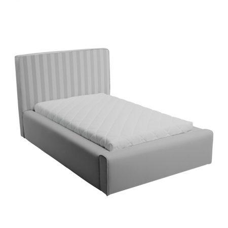 Szare łóżko młodzieżowe w paski basic