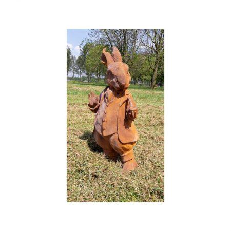 Rzeźba z żeliwa Pan królik Livingstone Terrasso