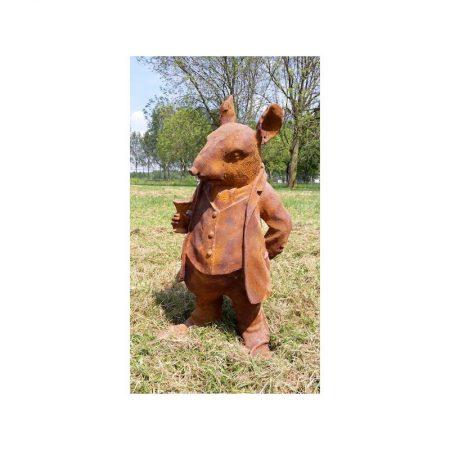 Rzeźba z żeliwa Pan szczurek Livingstone Terrasso