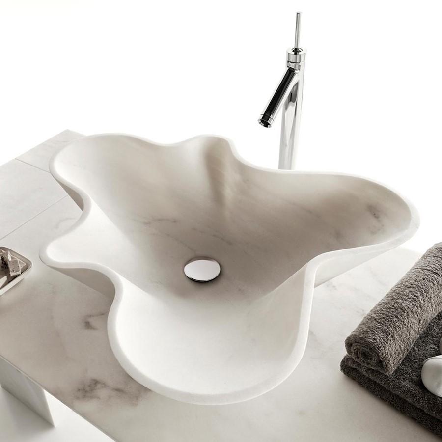 Asymetryczna umywalka z marmuru Bowl no 1