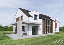 Biały dom o nowoczesnej formie