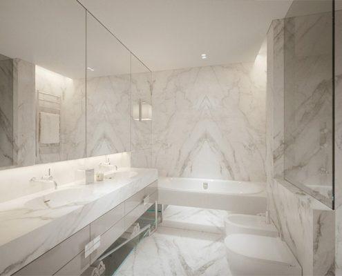 Elegancka łazienka w bieli