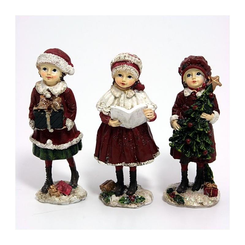 Kpl. 3 figurek Zimowe dziewczynki 12cm