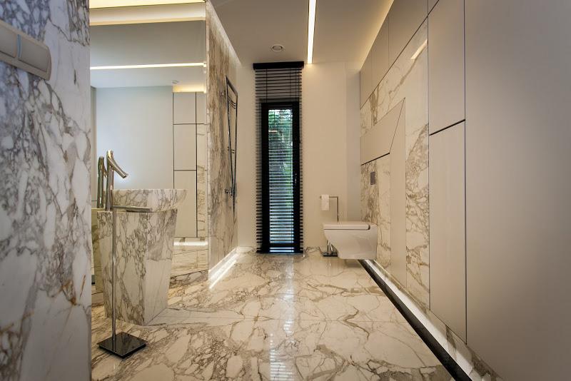 łazienka Z Marmuru Podłoga ściany A Może Umywalka