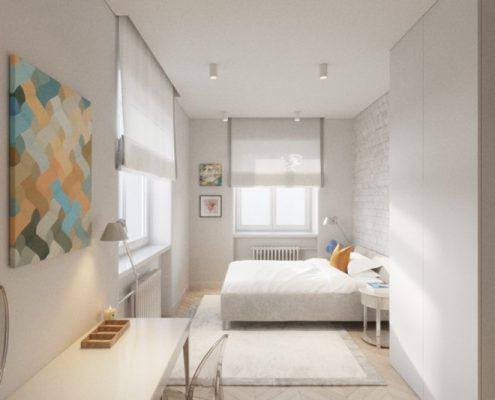 Projekt białej sypialni
