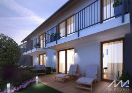 Projekt nowoczesnych domów w zabudowie bliźniaczej