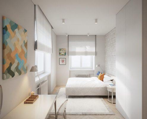 Projekt sypialni w czystej bieli