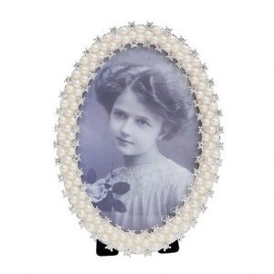 Ramka na zdjęcia glamour cyrkonie+perełki