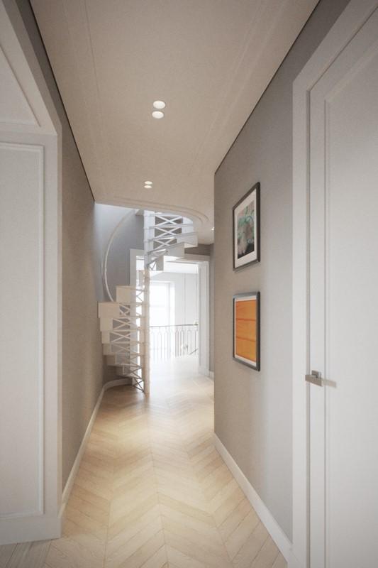 Spieralne schody w bieli