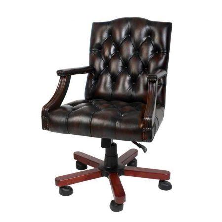 Fotel biurowy w stylu angielskim Eichholtz