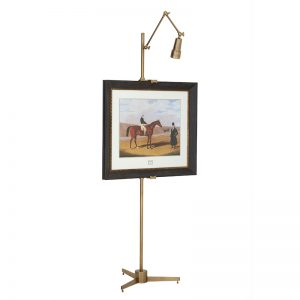 Sztaluga Warhol z lampką mosiądz Eichholtz