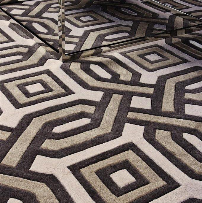 Dywan w salonie wzorzysty