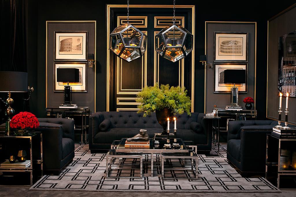 Szary dywan w eleganckim salonie