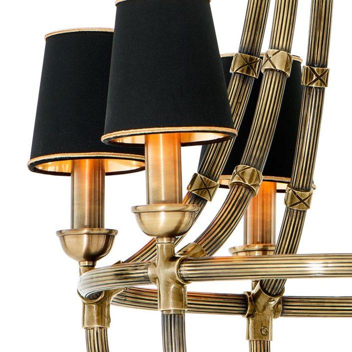 Żyrandol Moreaux antique brass S Eichholtz