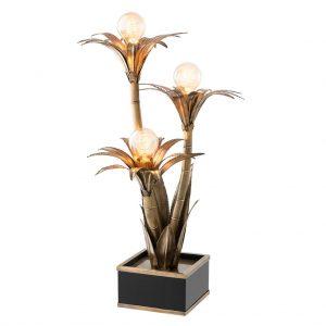 Lampa stołowa Palm Springs postarzane złoto Eichholtz