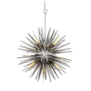 Żyrandol Gregorian L polished stainless steel Eichholtz