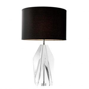 Lampa stołowa Setai clear crystal glass z abażurem Eichholtz