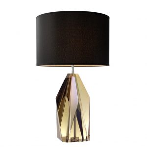 Lampa stołowa Setai amber crystal z abażurem Eichholtz