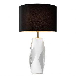 Lampa stołowa Titan crystal z abażurem Eichholtz