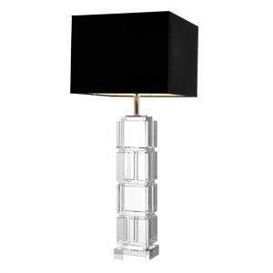 Lampa stołowa Reynaud crystal z abażurem Eichholtz