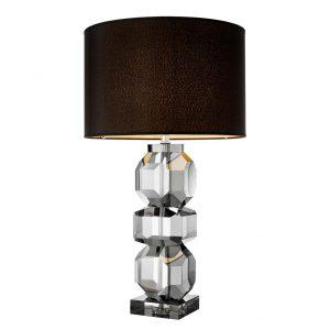 Lampa stołowa Mornington smoke crystal z abażurem Eichholtz