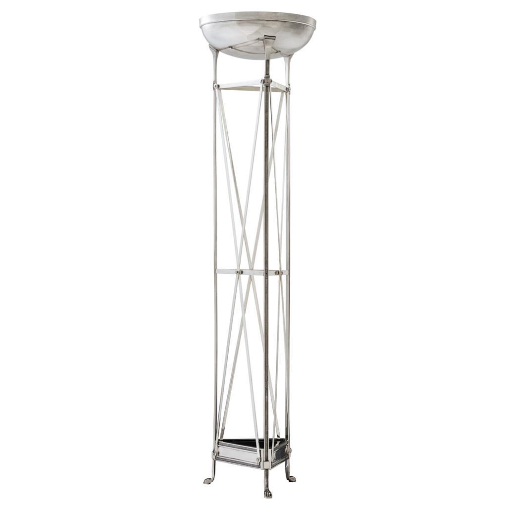 Lampa podłogowa Alexa srebrne wykończenie Eichholtz