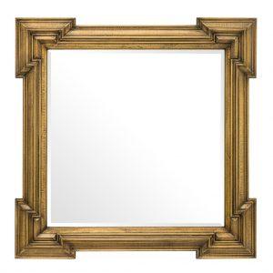 Lustro w złotej ramie Livorno 107 x 107 cm Eichholtz