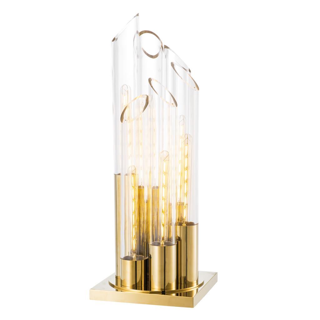 Lampa stołowa Paradiso złote wykończenie Eichholtz