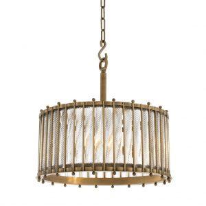Lampa wisząca Tiziano pojedyncze antique brass finish Eichholtz