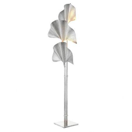 Lampa podłogowa Las Palmas srebrna Eichholtz