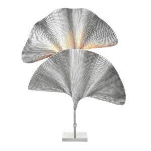 Lampa stołowa Las Palmas srebrna Eichholtz